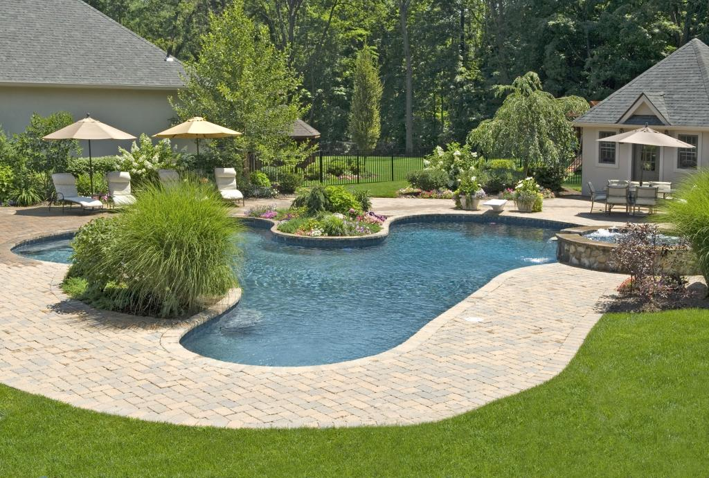 Image of: Low Maintenance Landscaping Ideas Pool