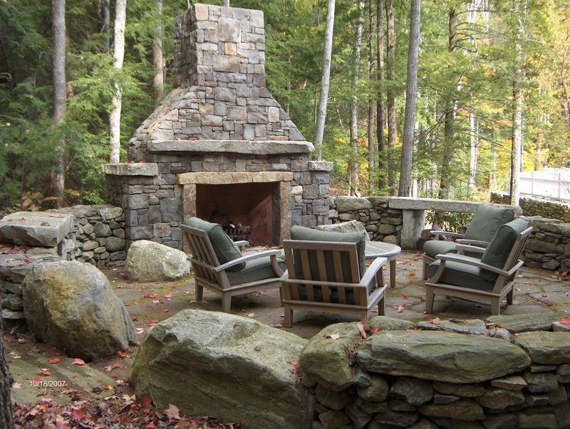 Image of: Best Eldorado Outdoor Fireplace