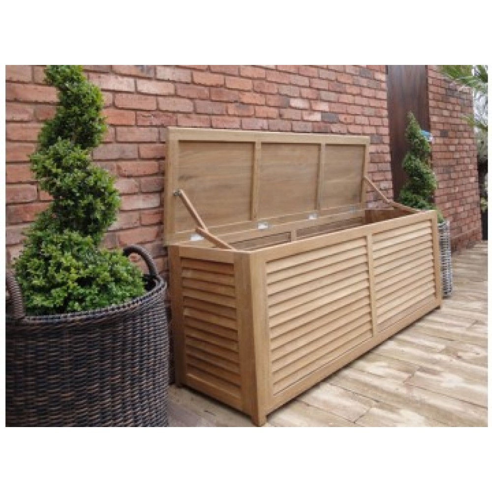 Image of: Brown Outdoor Storage Box For Cushions