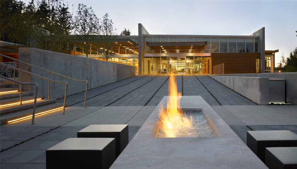 Image of: Contemporary Outdoor Fireplace Designs Type