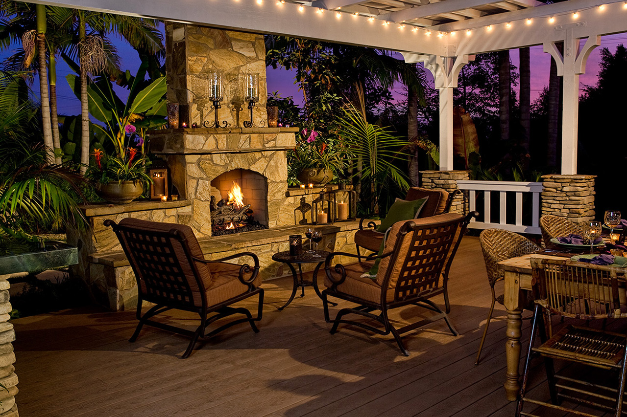 Image of: Eldorado Outdoor Fireplace Style Design