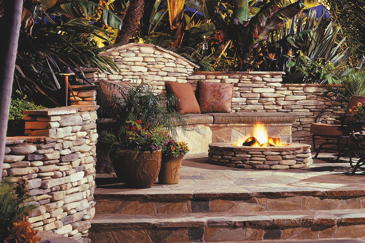 Image of: Nice Eldorado Outdoor Fireplace