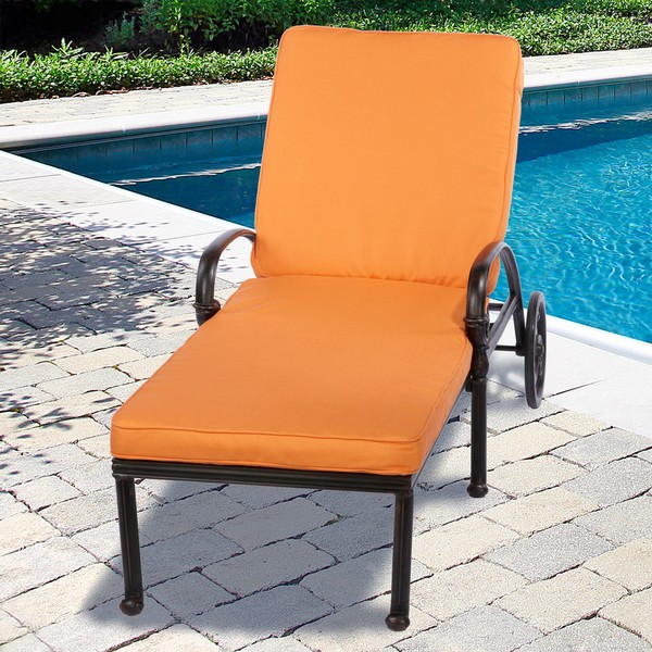 Image of: Outdoor Lounge Cushions Orange