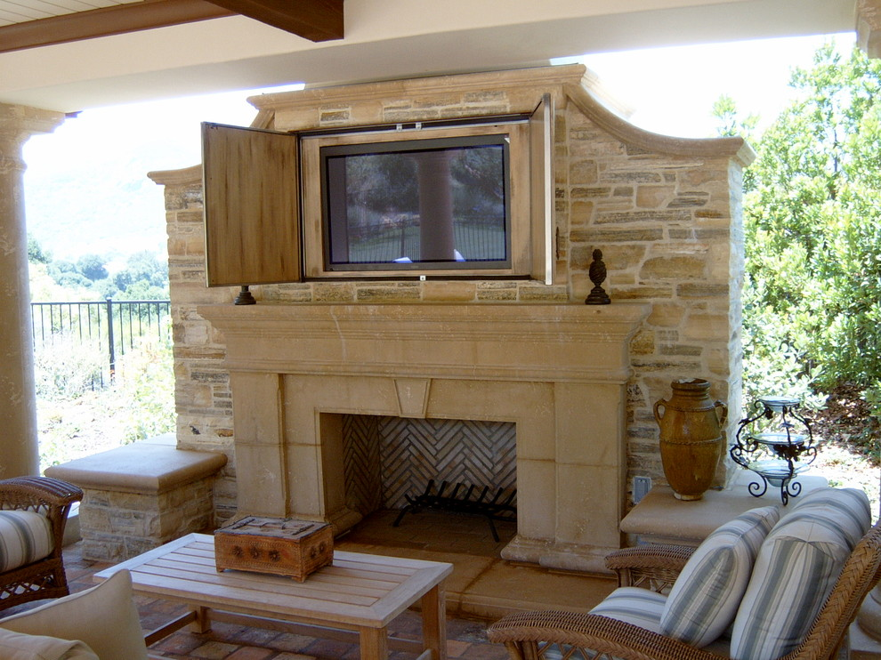Image of: Popular Eldorado Outdoor Fireplace