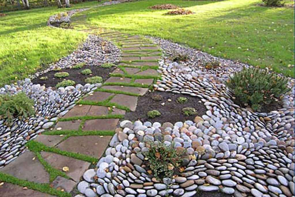 Image of: Landscaping And Pebbles