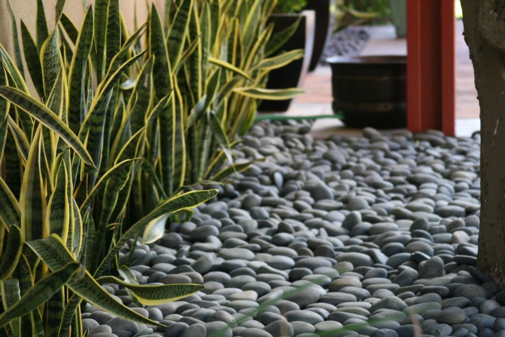 Image of: Landscaping With Mulch And Pebbles