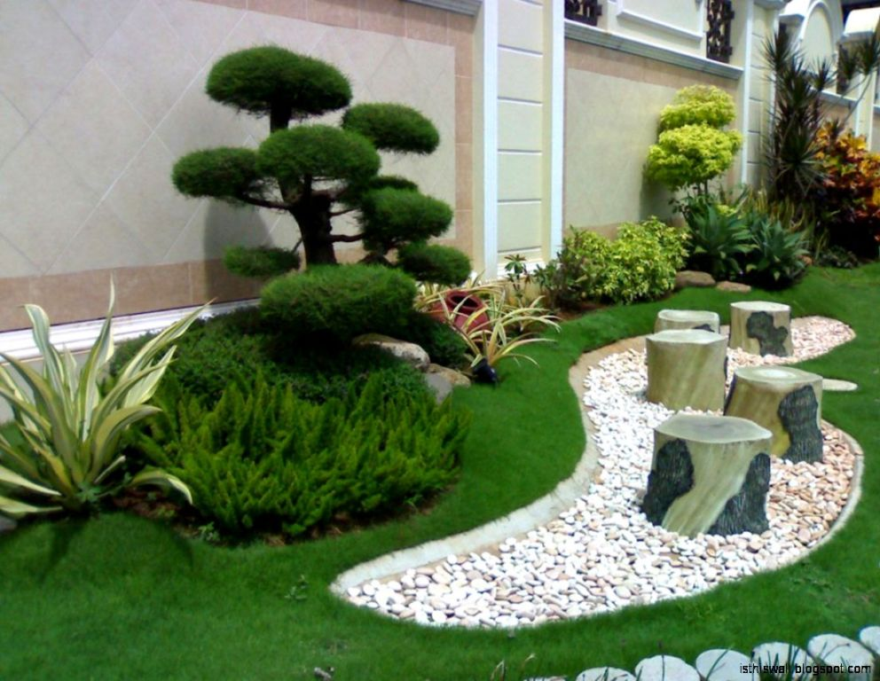 Image of: Landscaping With Pebbles And Rocks