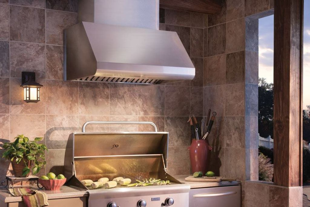 Image of: Outdoor Vent Hood For Grill