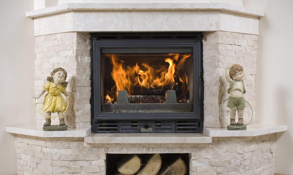Image of: Stone Outdoor Fireplace Images