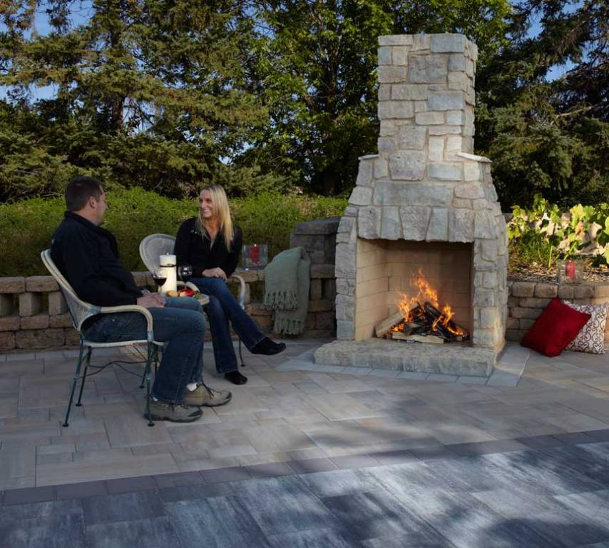 Image of: Stone Outdoor Fireplace Pizza Oven