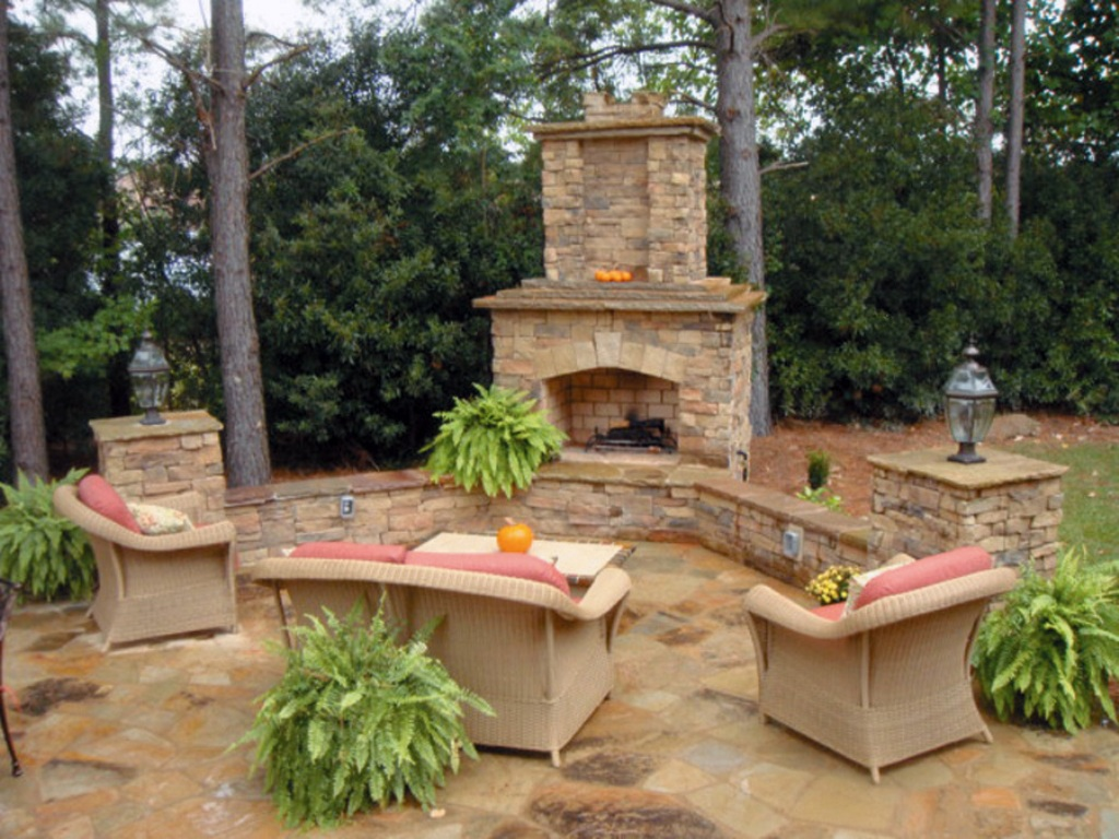 Stone Veneer For Outdoor Fireplace Wall