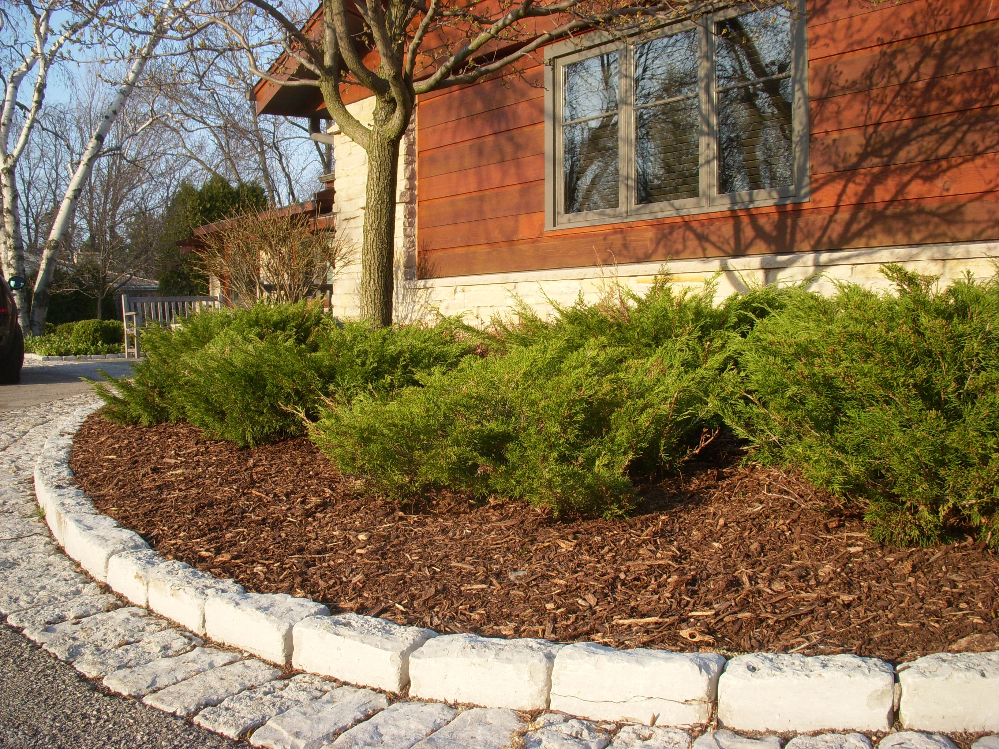 Image of: Brick Edging Reflections From Wandsnider Landscape Architects Regarding Landscaping Edging Bricks How To Install Landscaping Edging Bricks