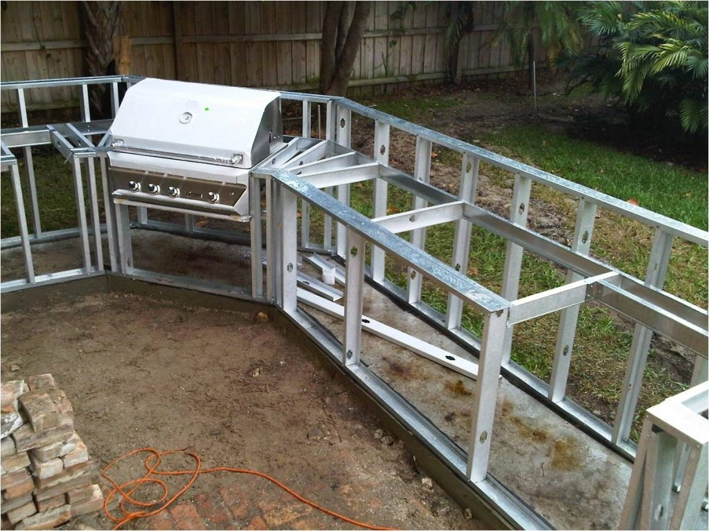 Image of: Download Outdoor Kitchen Frames Garden Design For Metal Frame Outdoor Kitchen Strong And Durable Metal Frame Outdoor Kitchen