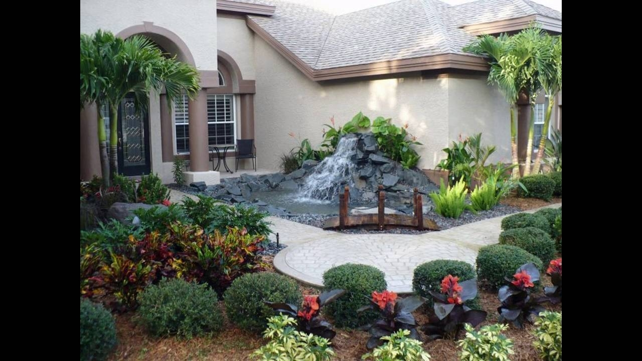 Garden Ideas For Front Yard For Small Space Youtube Regarding Small Front Yard Landscaping The Best Small Front Yard Landscaping Idea