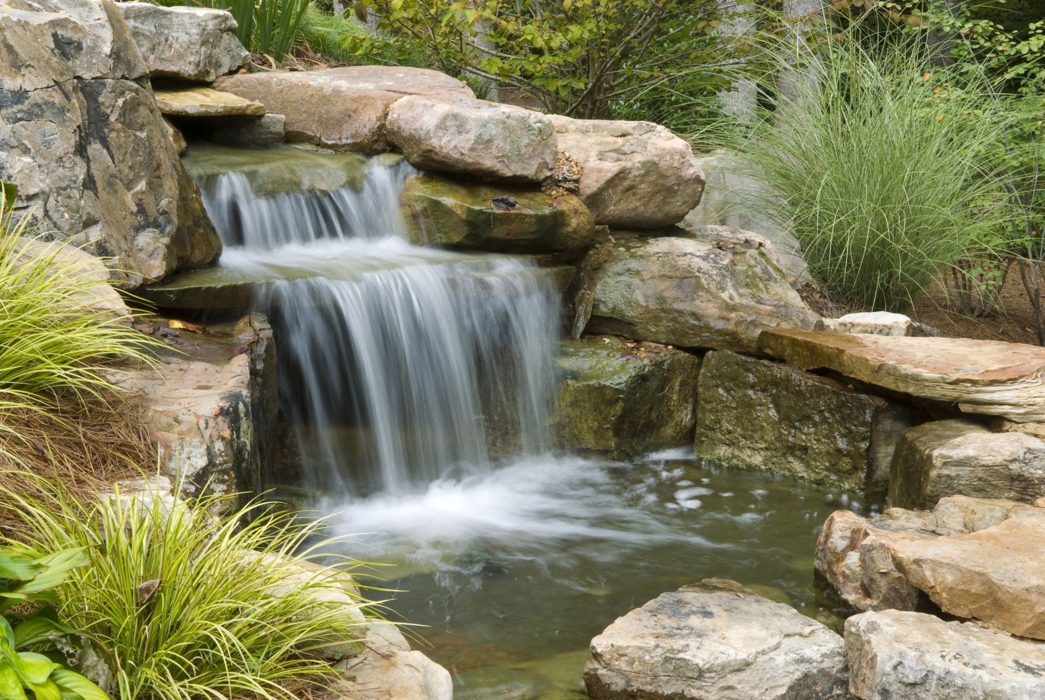 Image of: How To Build Dry Creek Beds For Landscape Drainage Throughout Creek Landscaping Ideas Create Creek Landscaping