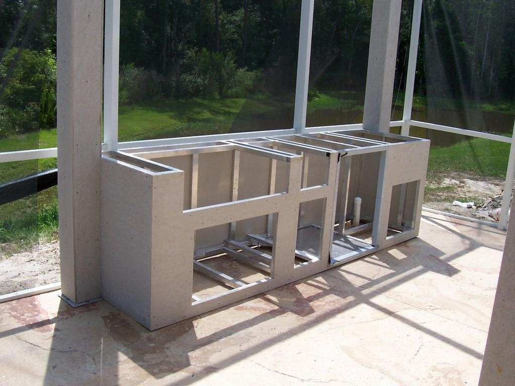 Image of: Impressive Design Outdoor Kitchen Frames Exciting Kitchen The Most With Regard To Metal Frame Outdoor Kitchen Strong And Durable Metal Frame Outdoor Kitchen