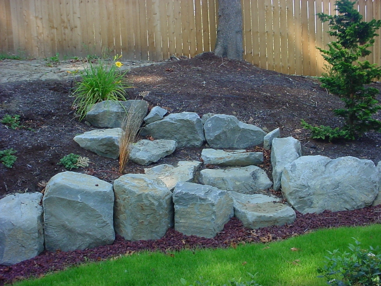 Image of: Landscape Boulders Wall Rock Portland Rock And Landscape Intended For Landscaping Boulders Pretty Landscaping Boulders Types