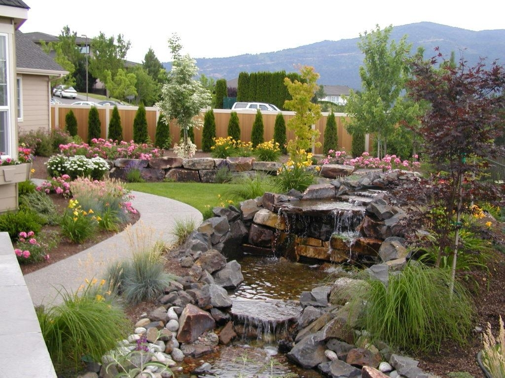 Image of: Landscaping Dry Creek Bed Pictures Dry Creek Bed Landscaping With Regard To Creek Landscaping Ideas Create Creek Landscaping