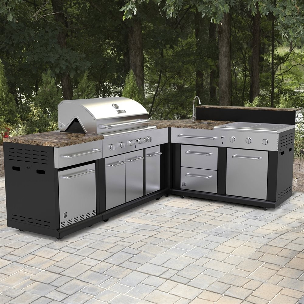 Image of: Master Forge Corner Modular Outdoor Kitchen Set Lowes Canada Inside Bbq Outdoor Kitchens Bbq Outdoor Kitchens For Perfect Time