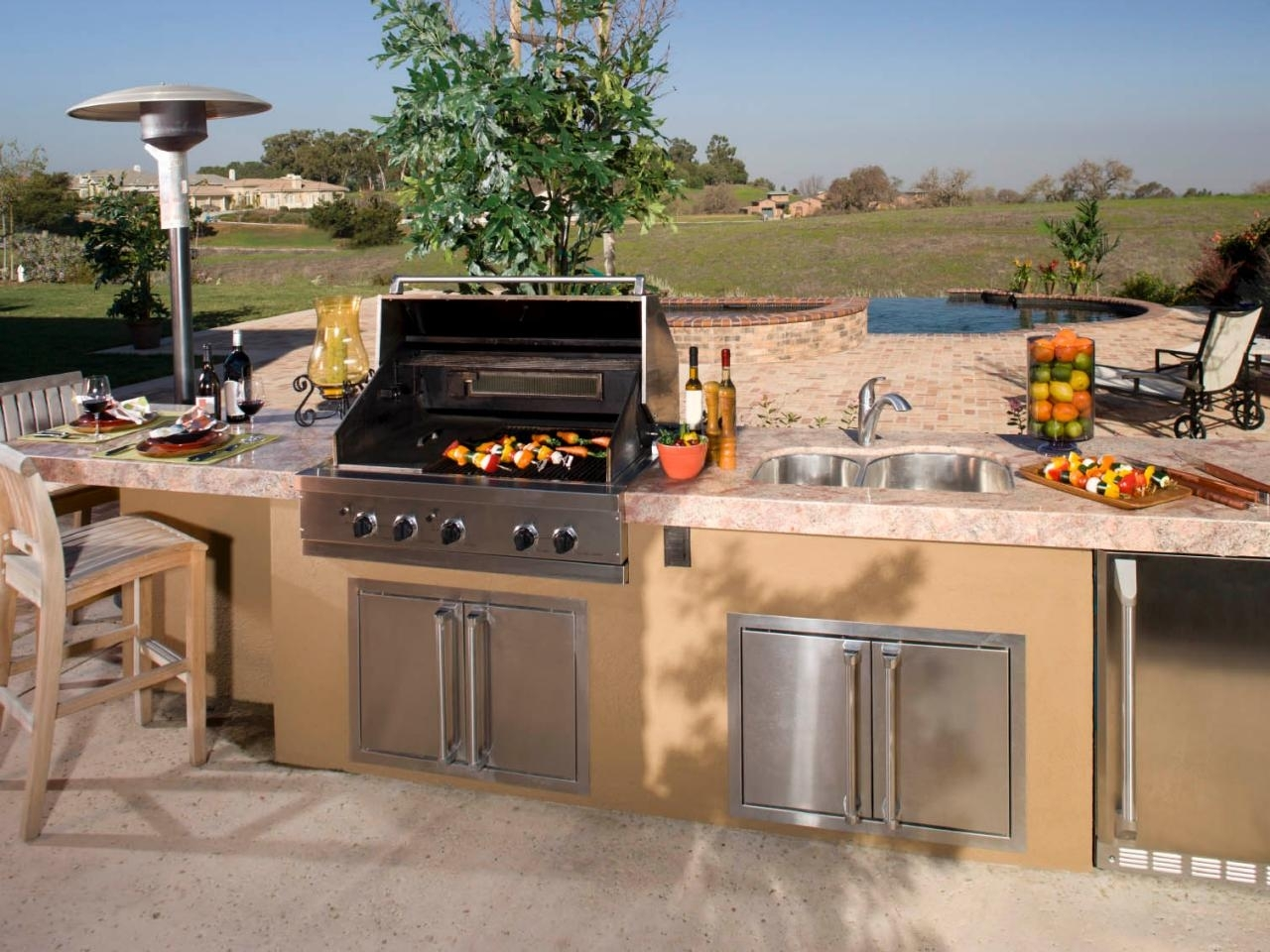 Outdoor Kitchen Design Ideas Pictures Tips Expert Advice Hgtv Within Bbq Outdoor Kitchens Bbq Outdoor Kitchens For Perfect Time