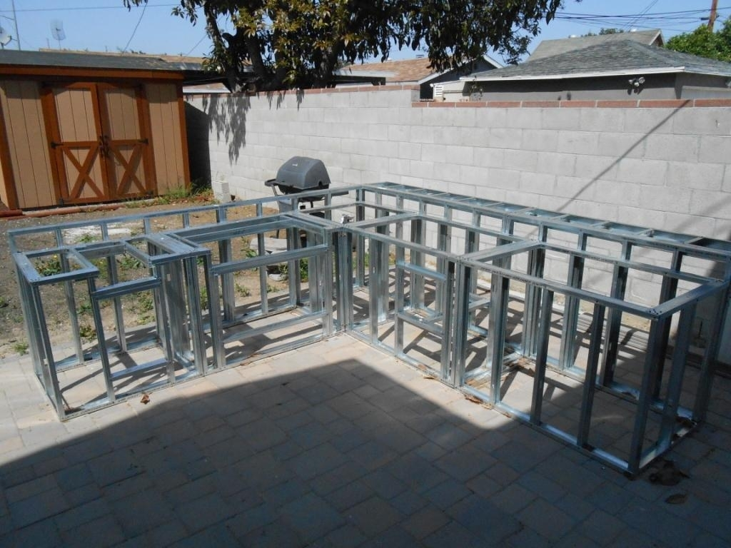 Outdoor Kitchen Frame Kits Kitchen Decor Design Ideas Intended For Metal Frame Outdoor Kitchen Strong And Durable Metal Frame Outdoor Kitchen