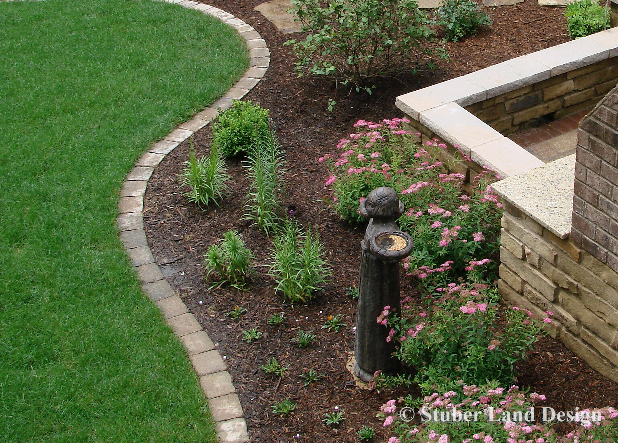 Image of: Paver Edging Creates A Good Clean Line To Transition From A Pertaining To Edging Landscaping Distinctive Edging Landscaping Style