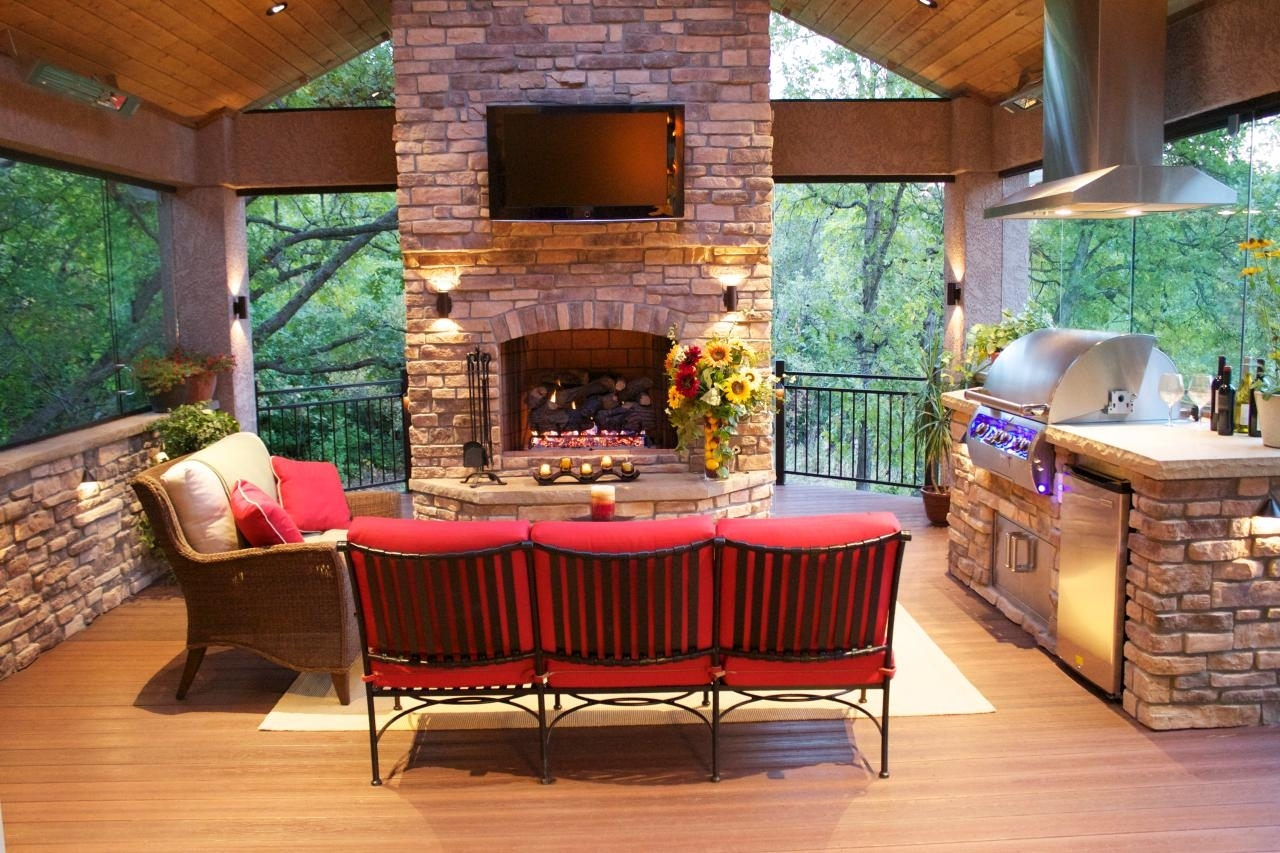 Image of: Photos Mega Decks Diy For Outdoor Decks With Fireplaces Outdoor Decks With Fireplaces Ideas