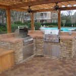 22 Backyard Kitchen Design Outdoor Kitchens And Pools Remodel My For Outdoor Kitchen With Pool Awesome Home Outdoor Kitchen With Pool