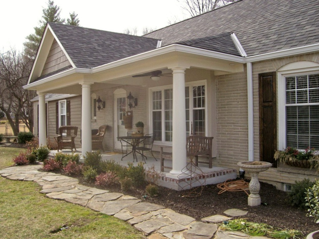 Image of: Adding A Front Porch To A Cape Cod