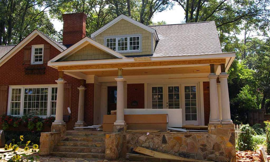 Image of: Adding A Front Porch To A Colonial