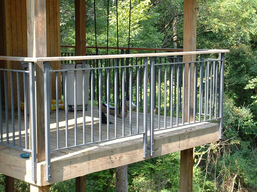 Image of: Aluminum Front Porch Railing Kit
