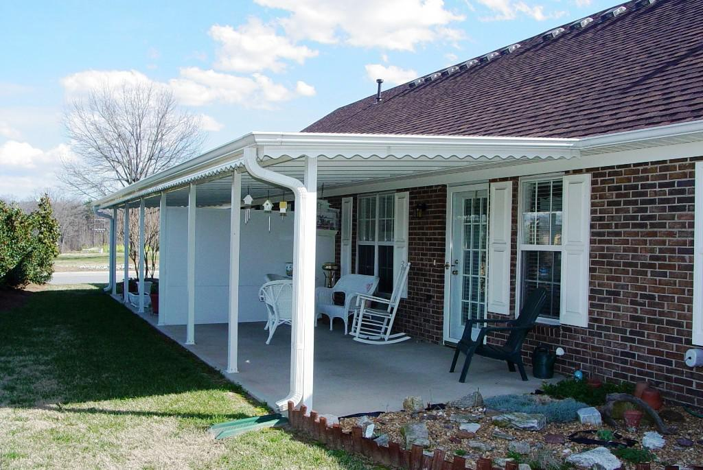 Image of: Aluminum Porch Awnings Inland Impire