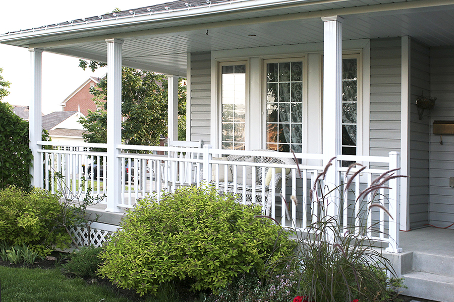 Image of: Aluminum Porch Railings
