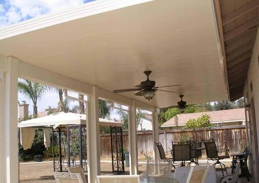 Image of: Aluminum Porch Roof Designs