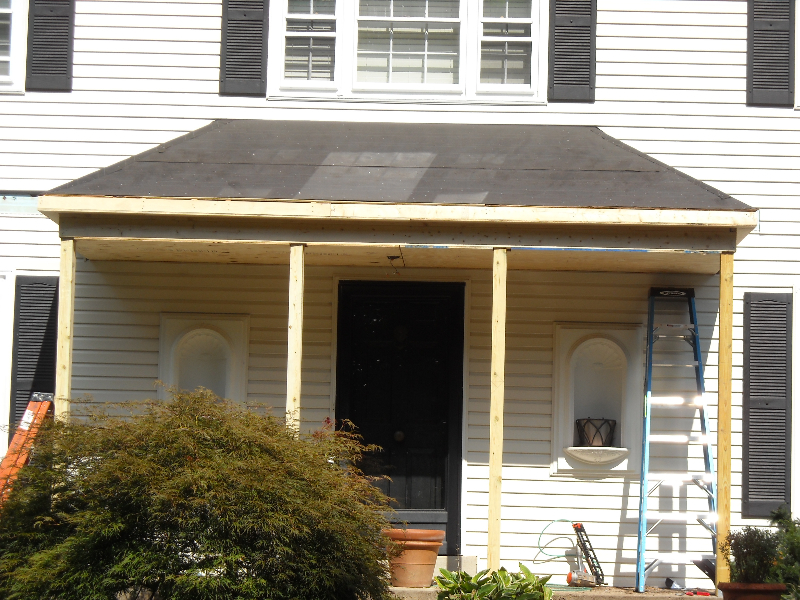 Image of: Aluminum Porch Roof Ideas