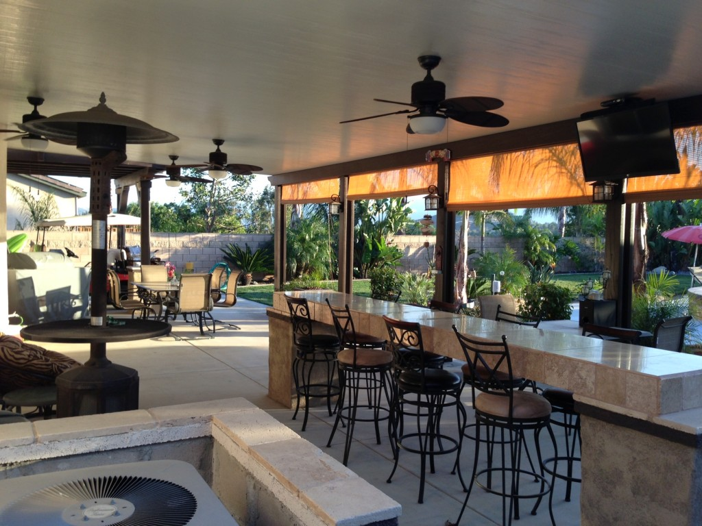 Image of: Aluminum Porch Roof Kitchen