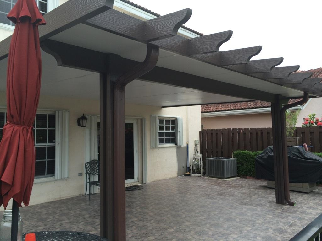Image of: Aluminum Porch Roof Type