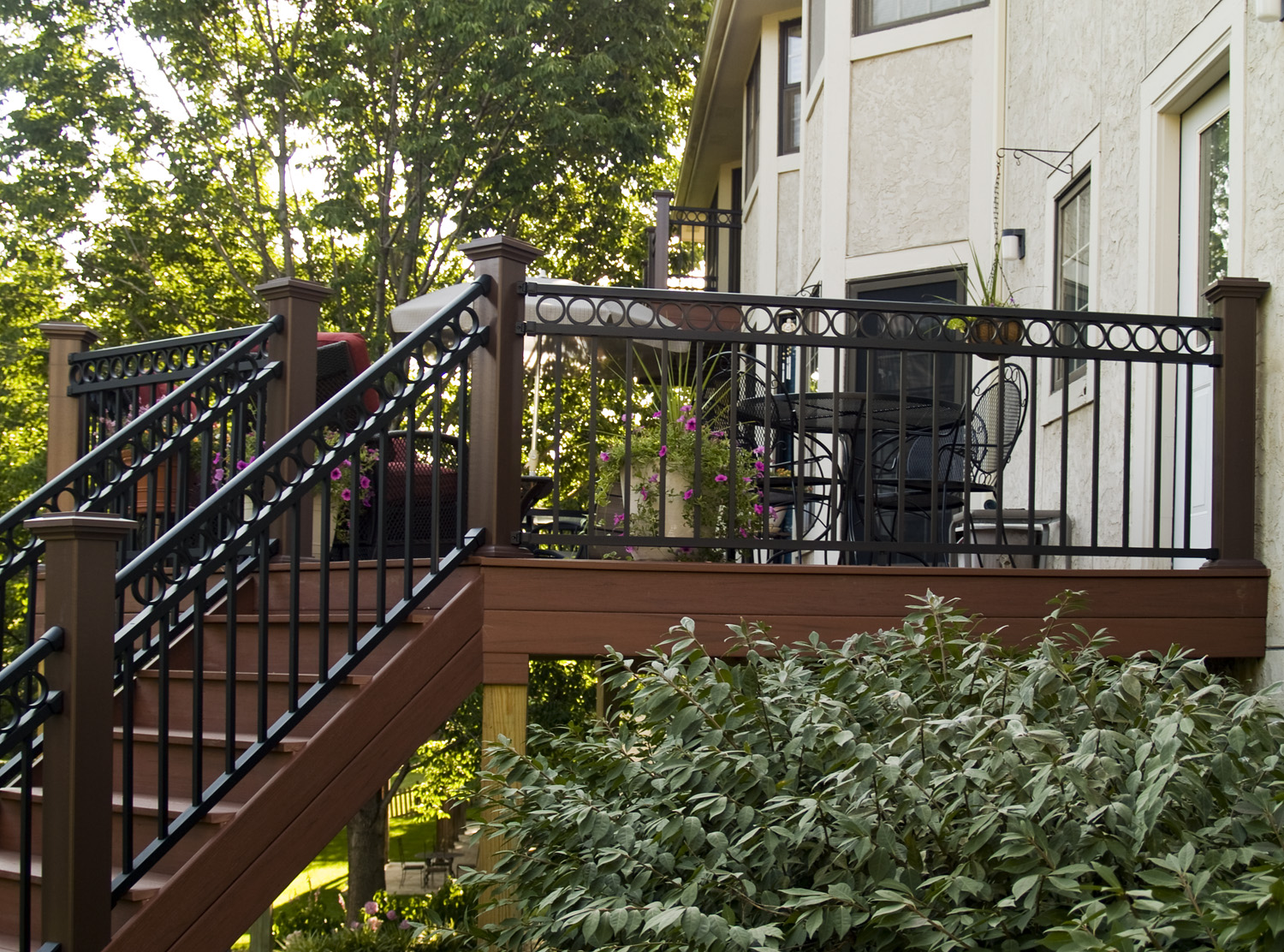 Image of: Alumunium Black Porch Railing
