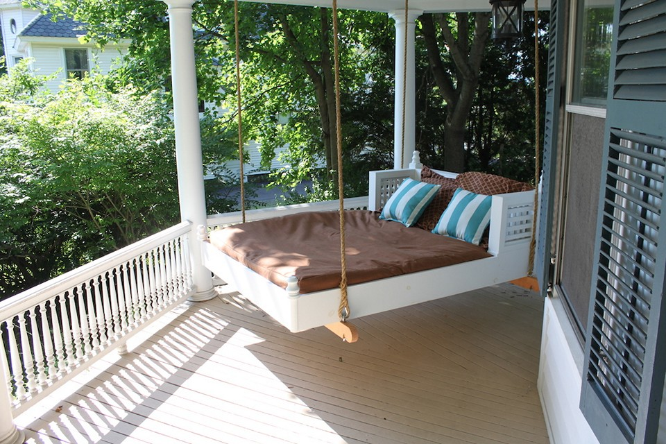 Image of: Amazing Bed Porch Swing