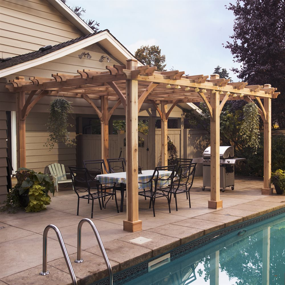 Image of: Amazing Front Porch Pergola