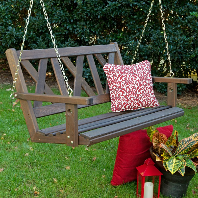 Image of: Amish Porch Swing Awesome