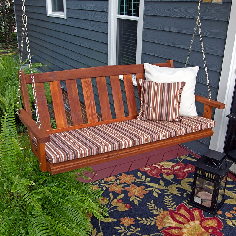 Image of: Amish Porch Swing Cedar