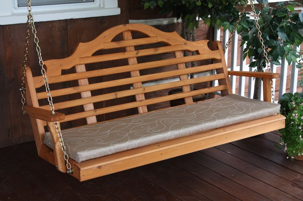 Image of: Amish Porch Swing Double