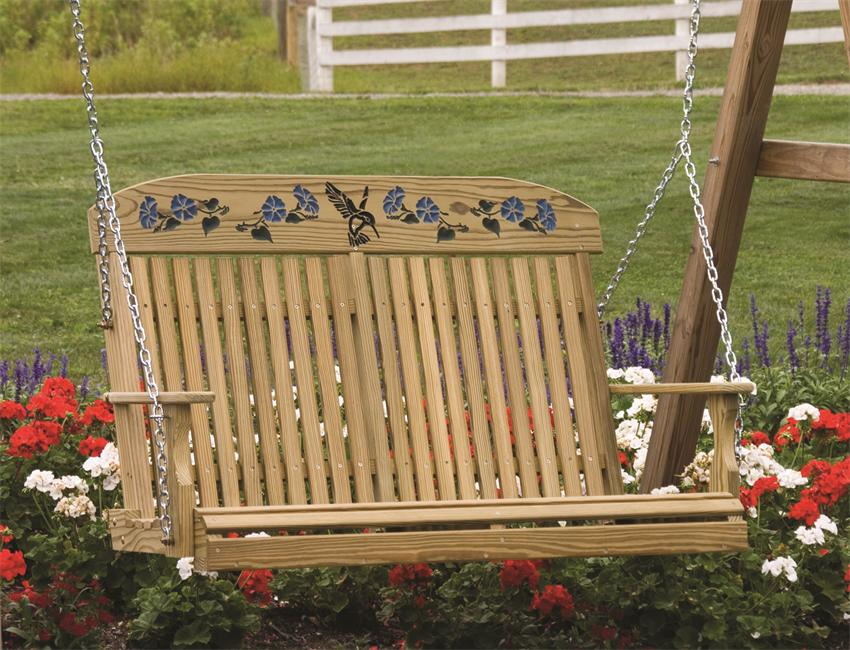 Image of: Amish Porch Swing Furniture