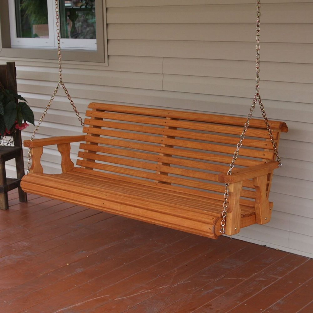 Image of: Amish Porch Swing Heavy