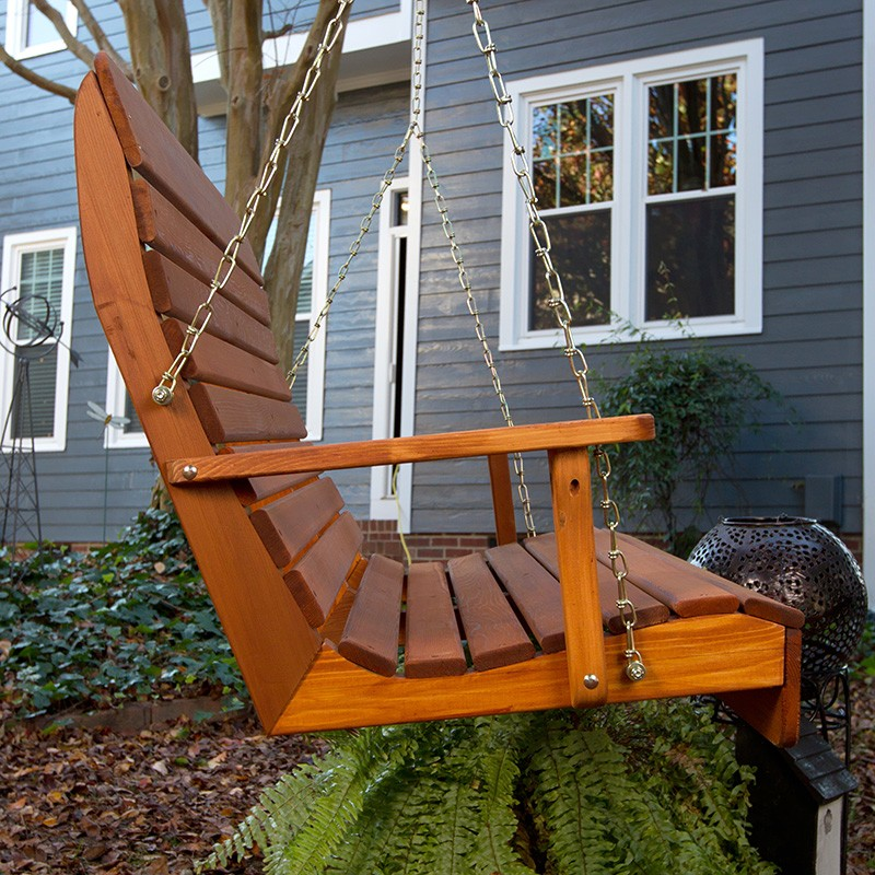 Image of: Amish Porch Swing High Back