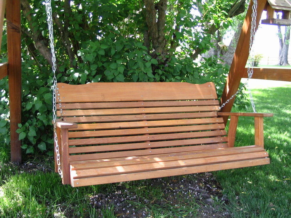 Image of: Amish Porch Swing Outdoor