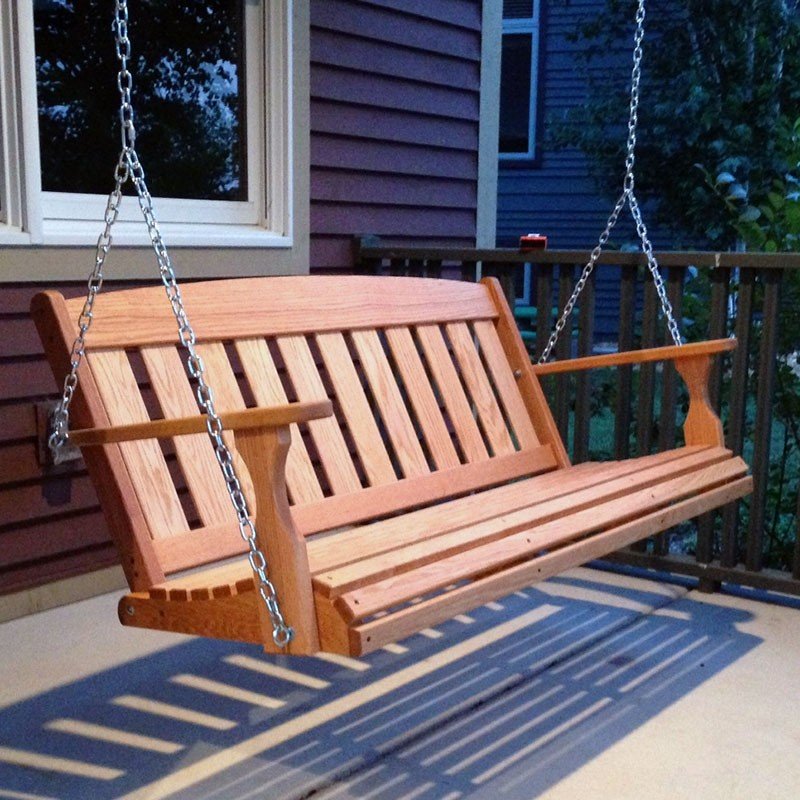 Image of: Amish Porch Swing Popular