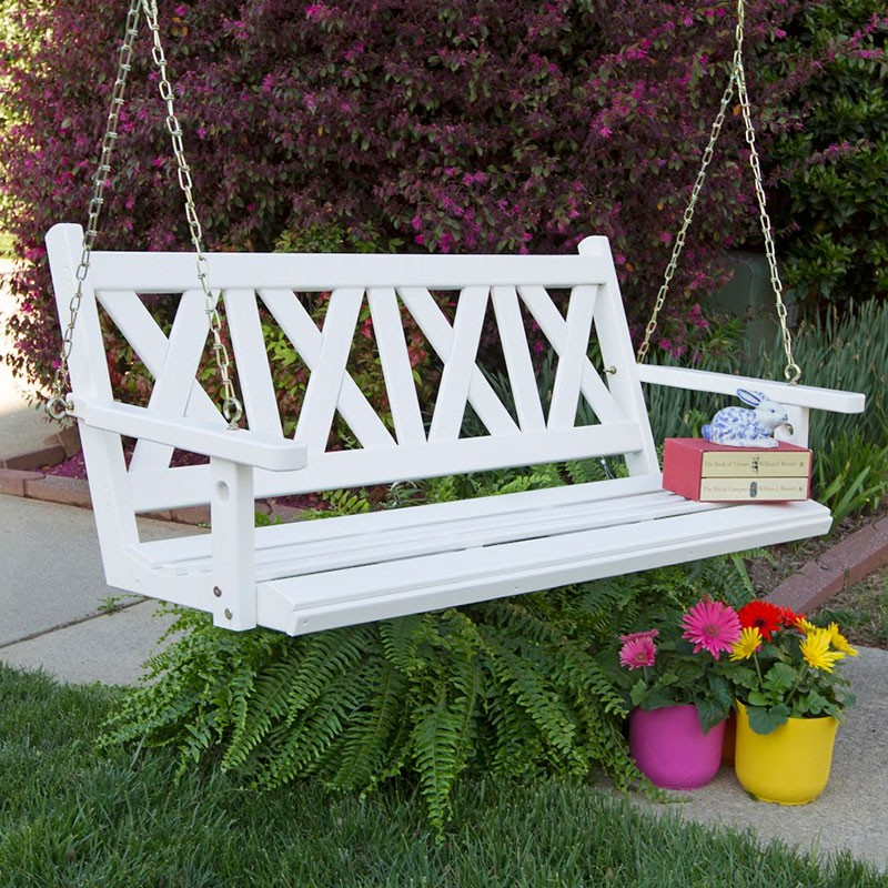 Image of: Amish Porch Swing Simple