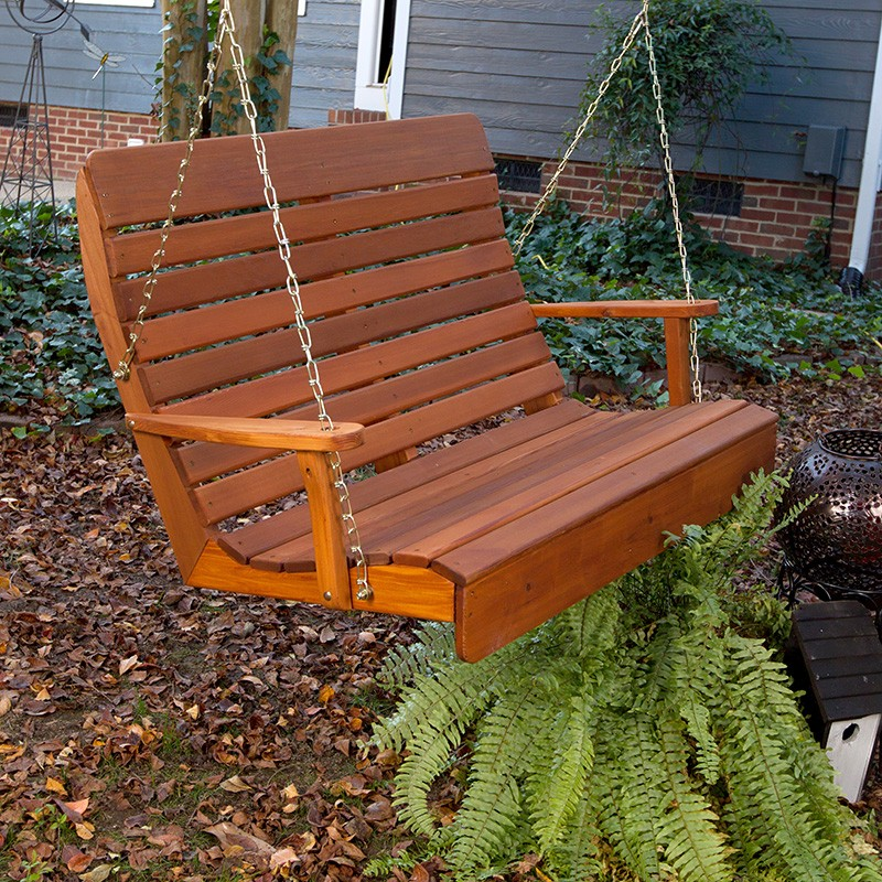 Image of: Amish Porch Swing Wood
